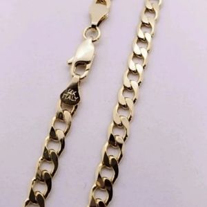 14k Gold plated Cuban link Chain 22""